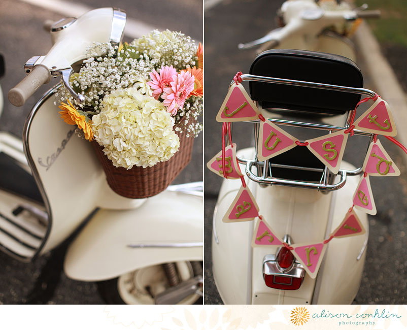 Crafty in the concrete jungle a very country chic wedding for Vespa decoration